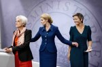 The leaders of Denmark's three political parties are women.